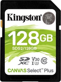 Kingston Canvas Select Plus 128GB SDXC UHS-I Class 10