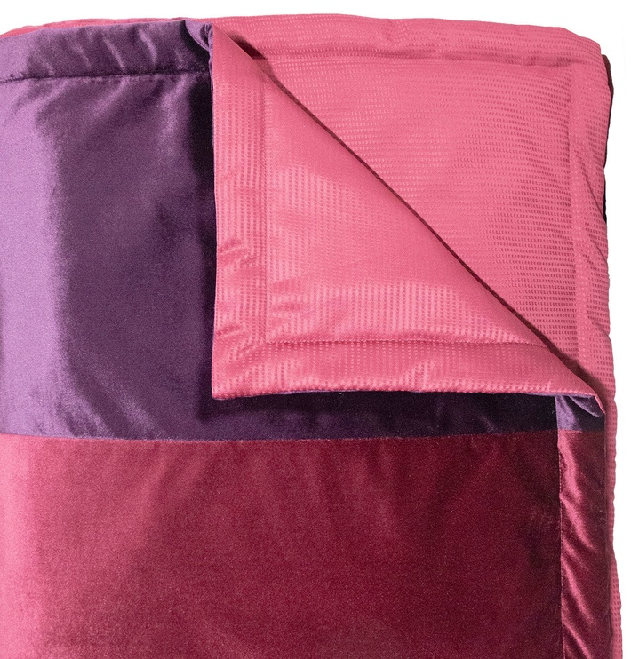 Home4you Deluxe 2 Bedspread 240x240cm Red/Dark Bordeaux