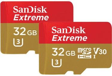 SanDisk Extreme 32GB microSDXC UHS-I U3 + SD Adapter 2-PACK