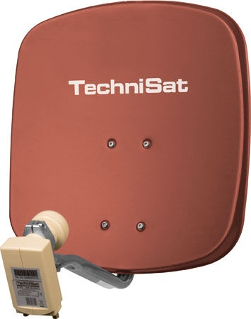 TechniSat TV Sat DigiDish 45 Twin Brick Red