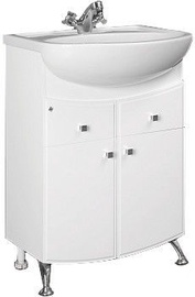 MN Step 12 Basin Cabinet 300x800x585mm White