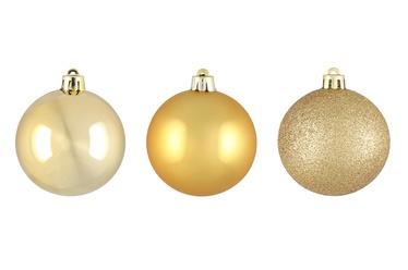 Ziemassvētku eglītes rotaļlieta, zelta, 60 mm, 9 gab.
