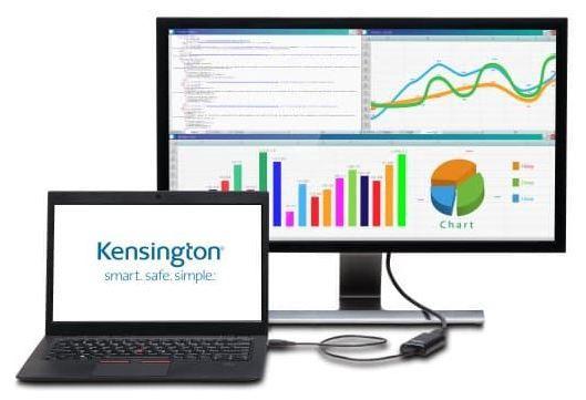 Kensington Adapter Display Port / USB Black