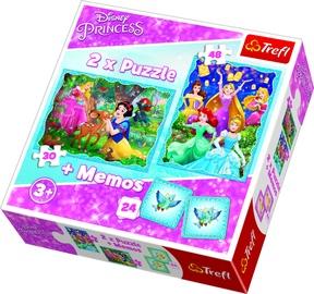 Puzle Trefl Memo & Puzzles Disney Princess 90815, 30/48 gab.