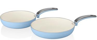 Swan Retro 20cm/28cm Fry Pans SWPS2010BLN Blue