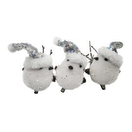 Ziemassvētku eglītes rotaļlieta Christmas Touch A53401 White, 3 gab.