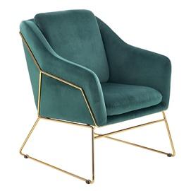 Fotelis Halmar Soft 3 Dark Green/Gold, 69x76x81 cm