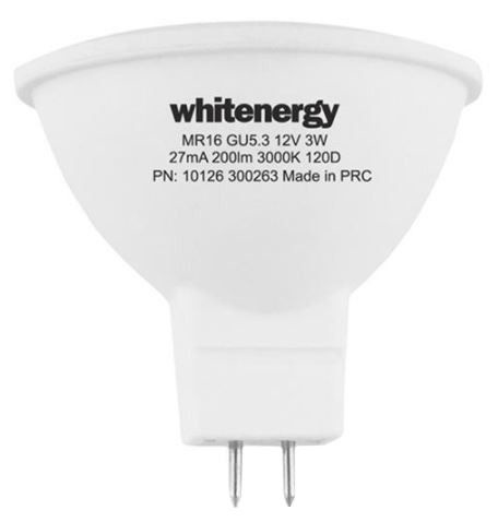 Whitenergy LED Bulb GU5.3 3W Milky