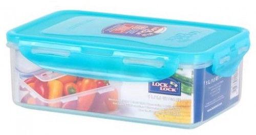 Micro Mini Organiser Box Compartments Blue Teal Latch Sideways Utility