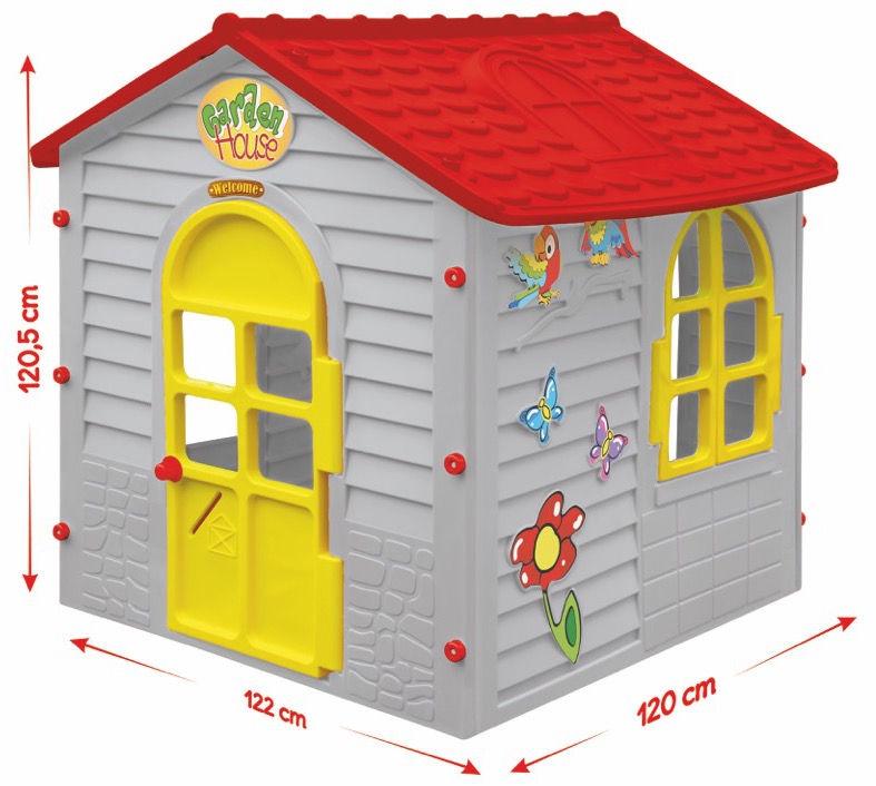 Mochtoys Garden House Grey/Red 11156