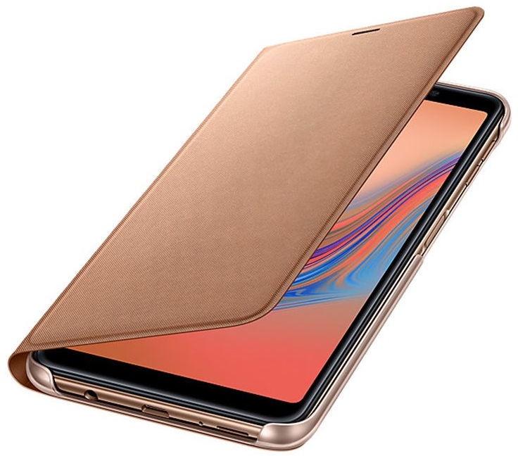 Samsung Wallet Case For Samsung Galaxy A7 A750 Gold