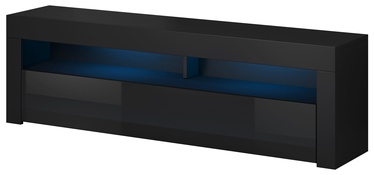 TV galds Vivaldi Meble Mex 2, melna, 1400x350x500 mm