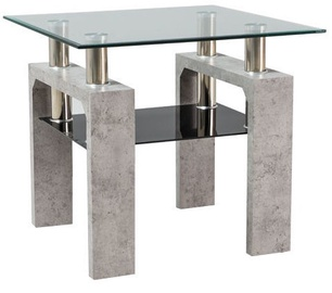 Kafijas galdiņš Signal Meble Modern Lisa D Concrete, 600x600x550 mm
