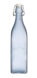 Kilner Clip Top Glass Bottle 1l Blue