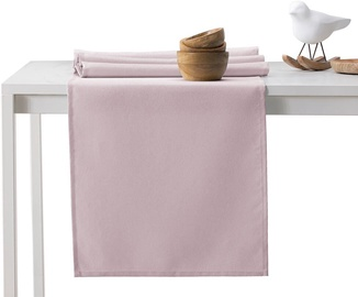 DecoKing Pure HMD Tablecloth PowderPink Set 115x200/35x200 2pcs