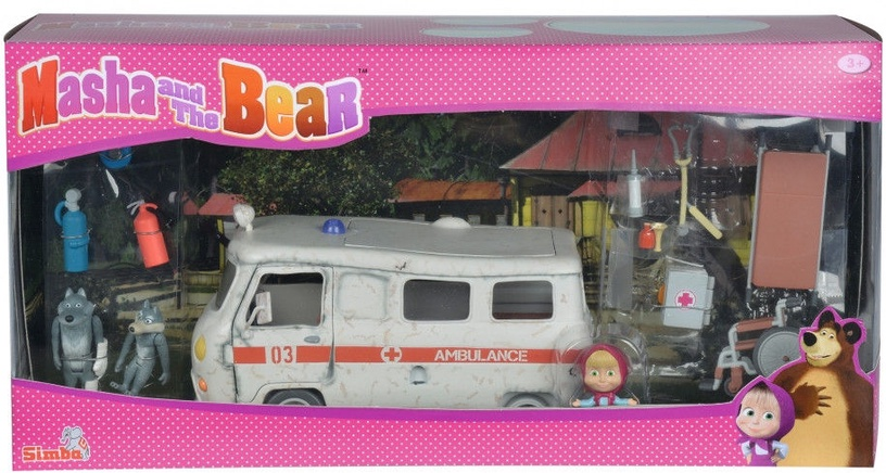Simba Masha and the Bear Ambulance Playset 109309863