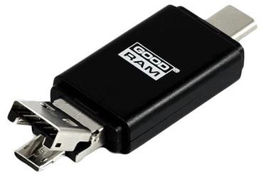 GoodRam M1A5 All-In-One USB-C / MicroUSB Card Reader + 16GB MicroSD
