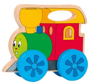 Woodyland Pull Along Happy Engine With Handle 93036