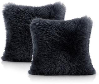 AmeliaHome Dokka Pillowcase 45x45 Black 2pcs