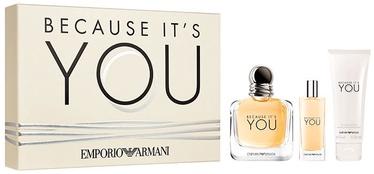 Дизайн подарочной коробки может отличаться от изображенного на картинке. Giorgio Armani Emporio Armani Because It's You 100ml EDP + 75ml Body Lotion + 15ml EDP