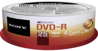 Sony DVD-R 4.7GB 16x 25pcs