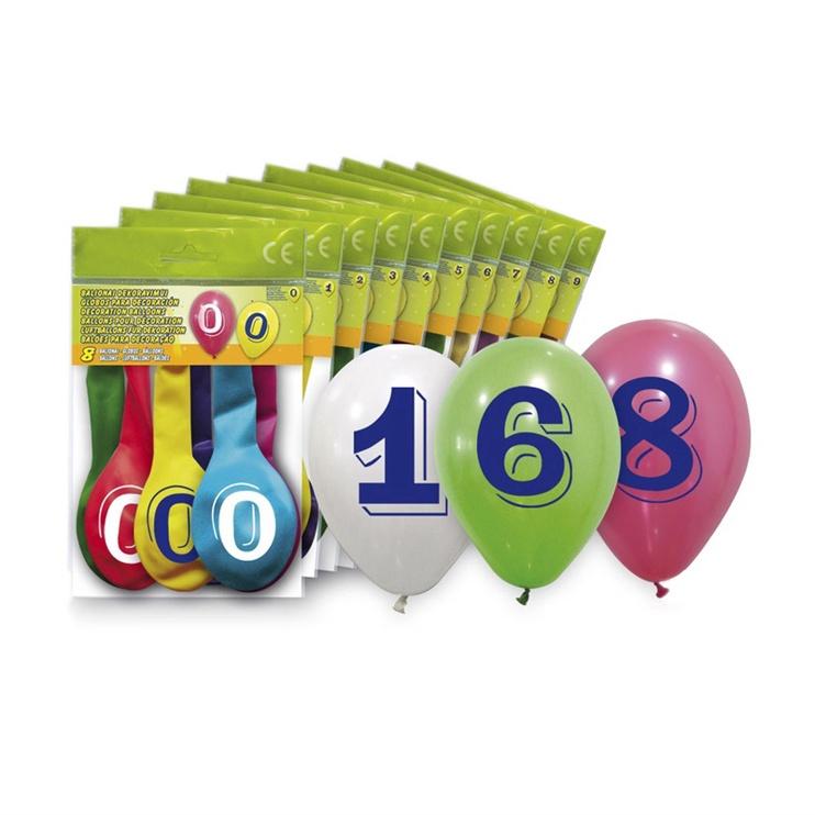 Balionai 5260-1, ovalūs, įvairūs, 8 vnt.
