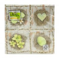 Popierinės servetėlės Daisy, 33 x 33 mm, 20 vnt.