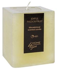 Aromātiskā svece Home4you Candle Joyful Pasion Fruit 7.5x7.5xH10cm, 48 h