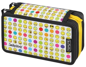 Herlitz 3 Piece Pencil Case Smileyworld Rainbow Faces