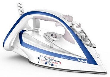 Tefal Turbo Pro FV5677E0 Steam Iron White/Blue