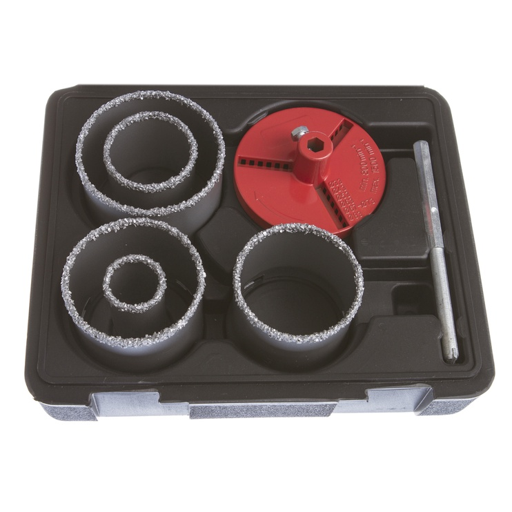 Kroņurbju komplekts flīzēm Vagner SDH VG057, 3-83mm, 7gab.