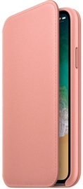 Apple Leather Folio Case For Apple iPhone X Soft Pink