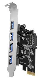Axagon PCEU-430VL PCIe Controller 4x External SuperSpeed USB