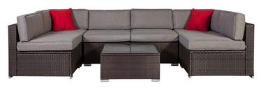 Home4you Cliff Garden Furniture Set Brown