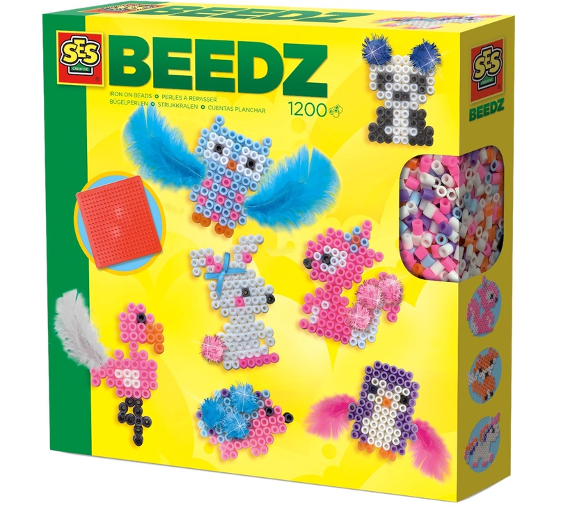 Mozaika SES Creative Beedz Iron On Beads Cute Animals 06256