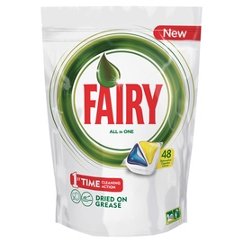 Automatinių indaplovių kapsulės FAIRY All in 1 Lemon, 48 vnt.