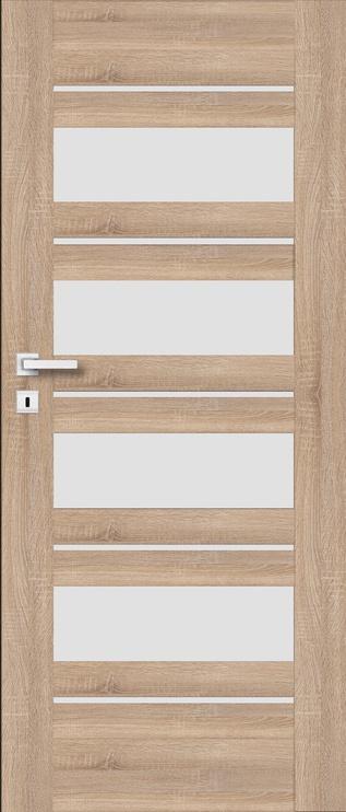 Полотно межкомнатной двери PerfectDoor EVIA 01, дубовый, 203.5 см x 74.4 см x 4 см