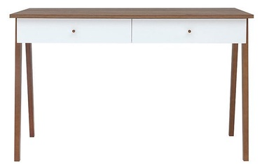 Black Red White Heda Desk Brown