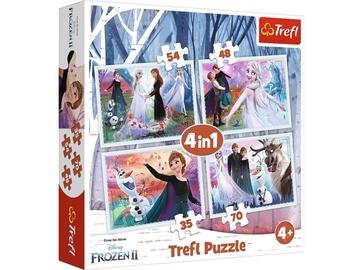 Pusle Trefl 4-in-1 Frozen II Magic Forest 736031, 35/48/54/70 tk