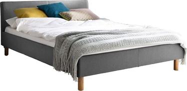Кровать Meise Möbel Lena, серый, 205x145 см