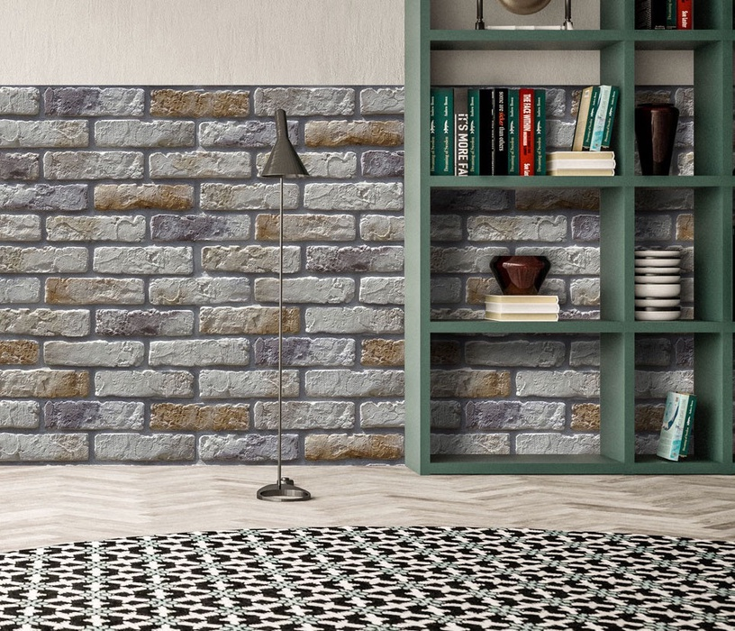Stone Master Retr Brick Tiles 245x64mm Grey