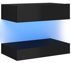 Öökapp VLX High Gloss 3079693, must, 60x35x15.5 cm