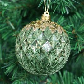 Ziemassvētku eglītes rotaļlieta Christmas Touch SYPMQB-111989 Green, 80 mm, 3 gab.