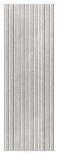 Keraminės dekoruotos sienų plytelės Nisida Light Grey Str Rect, 25 x 75 cm