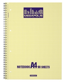 ErichKrause Wirebound Notebook Megapolis Yellow Concept 80 Sheets A4