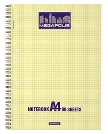 ErichKrause Wirebound Notebook Megapolis Yellow Concept 80 Sheets A4