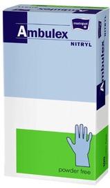 Matopat Ambulex Nitryl Powder Free Gloves M Blue 100pcs