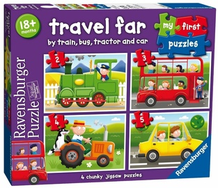 Puzle Ravensburger Travel Far 4in1 07303, 72 gab.