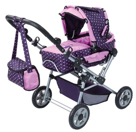 Bayer Trendsetter Doll Pram Purple/Pink 19175