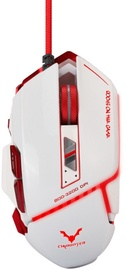 Spēļu pele Chiropter GM2 Pro Aluminum Optical Gaming Mouse, balta